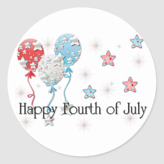 Happy Fourth of July Balloons/Stars Stickers