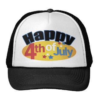 Happy Fourth Of July Cap