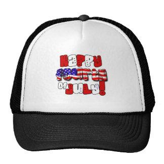 Happy Fourth of July Gear Mesh Hat
