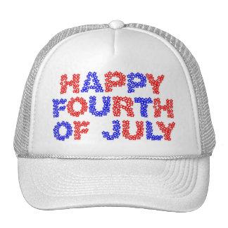 Happy Fourth of July Trucker Hats