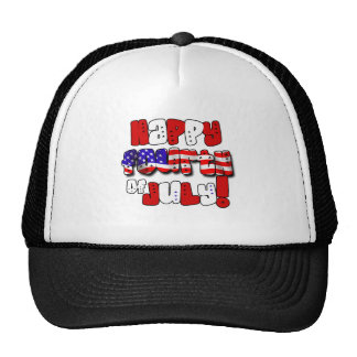 Happy Fourth of July Mesh Hats