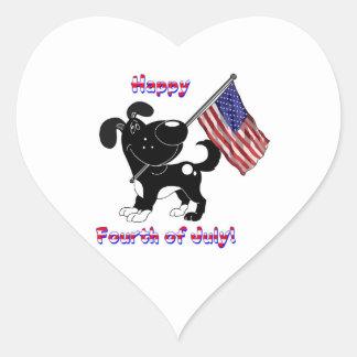 Happy Fourth of July! Heart Sticker