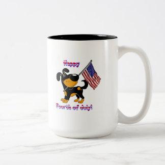 Happy Fourth of July! Two-Tone Mug