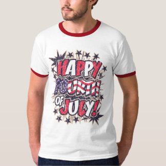 Happy Fourth of July Ringer T-Shirt