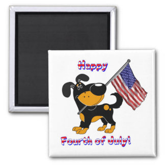 Happy Fourth of July! Square Magnet