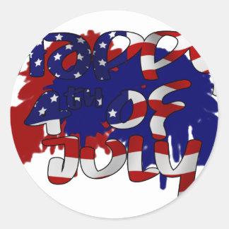 Happy Fourth of July Sticker