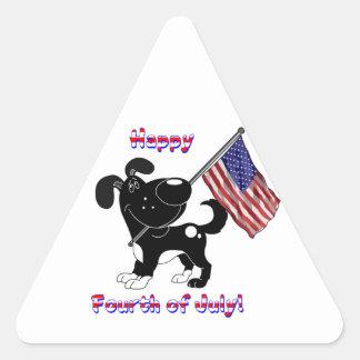Happy Fourth of July! Triangle Sticker