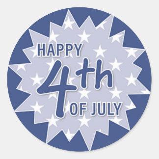 Happy Fourth of July Sticker (Blue)
