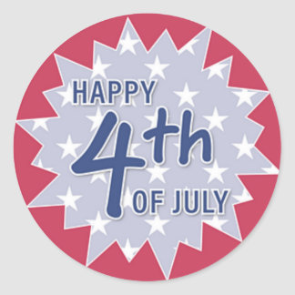 Happy Fourth of July Sticker (Red)