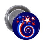 Happy Fourth of July Swirl Buttons
