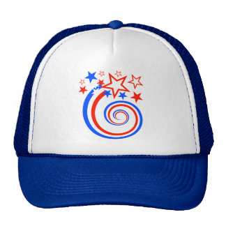 Happy Fourth of July Swirl Cap