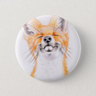 Happy Foxy 6 Cm Round Badge