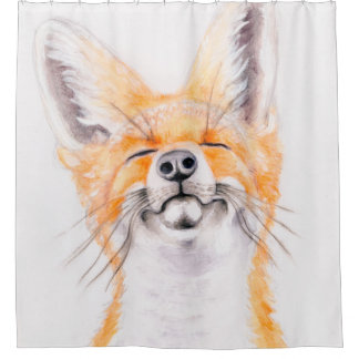 Happy Foxy Shower Curtain