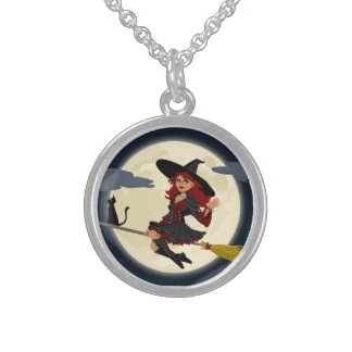 Happy Freaking Halloween Friendly Witch Necklace