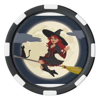 Happy Freaking Halloween Friendly Witch Poker Chip