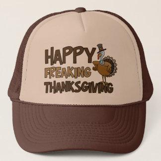Happy Freaking Thanksgiving Trucker Hat