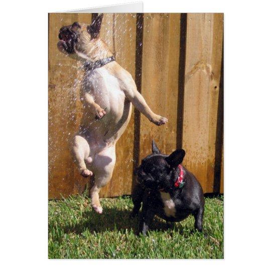 Happy French Bulldog Card