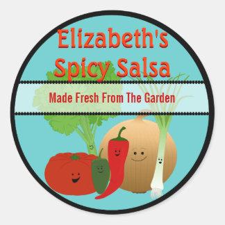 Happy Fresh Salsa Gift Tag