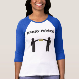 Happy Friday 3/4 Sleeve Baseball Tshirt