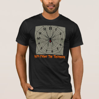Happy Friday the 13th! 13 Hour Spider Clock Face T-Shirt