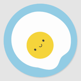 Happy Fried Egg Classic Round Sticker