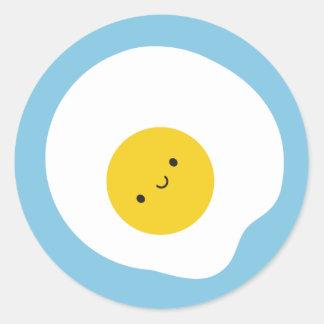 Happy Fried Egg Round Sticker