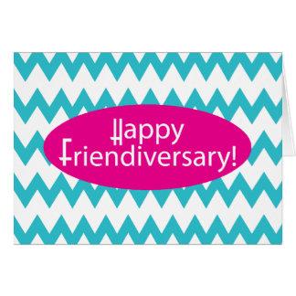 Happy Friendiversary Chevron Design Card