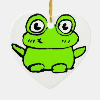 Happy Frog Christmas Ornament