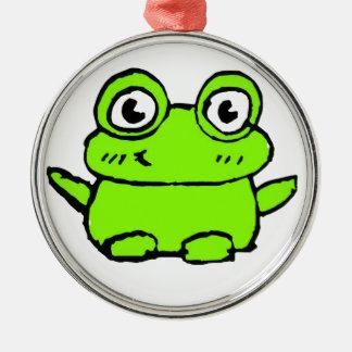 Happy Frog Christmas Ornament