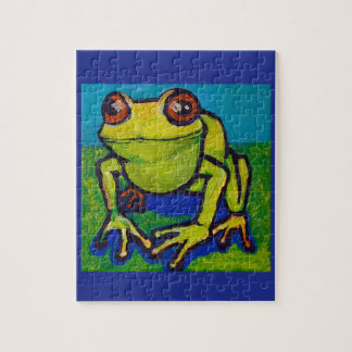 Happy frog jigsaw puzzle
