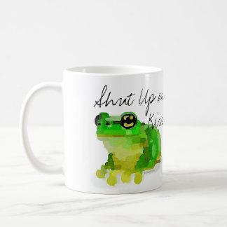 """Happy Frog """"Shut Up and Kiss Me"""" Mug"""