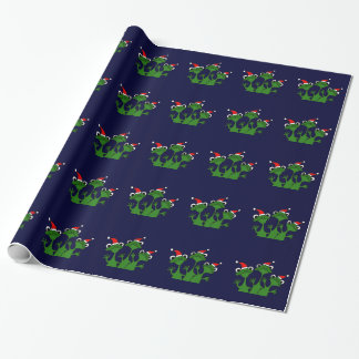 Happy Frogs Christmas Wrapping Paper