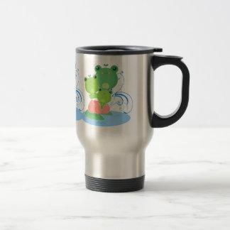 Happy Frogs Travel Mug