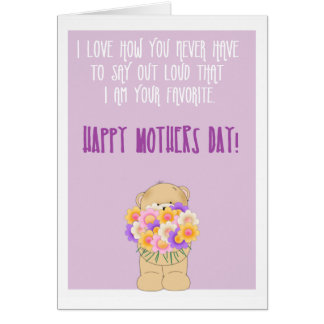Happy funny mothers day card
