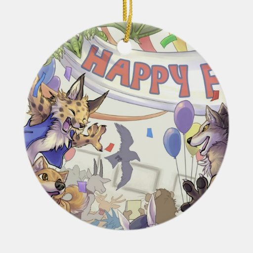 Happy furry con Ornament