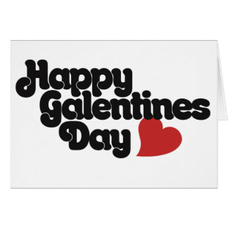Happy Galentines Day Greeting Card