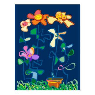 Happy Garden flowers Postcards