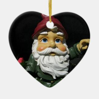 Happy Garden Gnome Christmas Tree Ornament