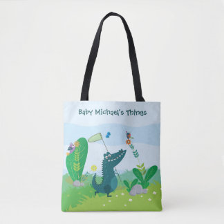 Happy Gator All Over Print Tote