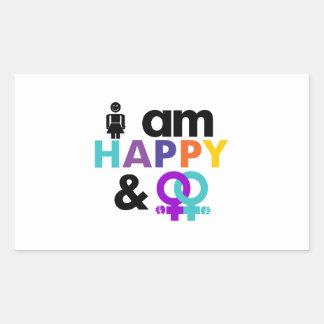 Happy Gay and Okay LBGT Sticker