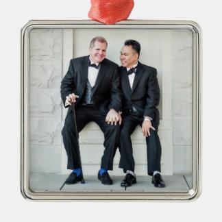 Happy Gay Couple Christmas Ornament
