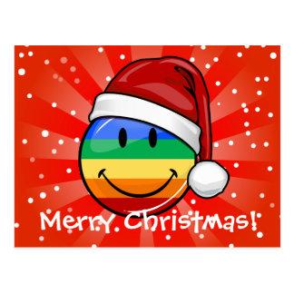 Happy Gay Lgbt Flag Custom Text Holiday Postcards