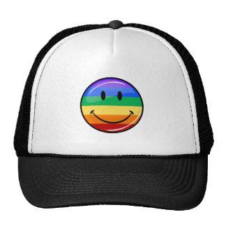 Happy Gay LGBT Pride Rainbow Flag Mesh Hats