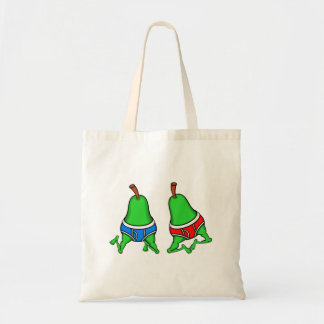 Happy Gay Pride Couple Pears Tote Bag