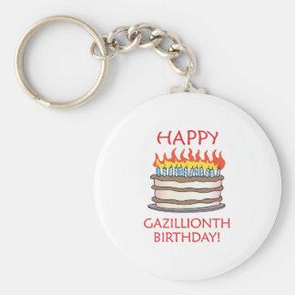 Happy Gazillionth Birthday! Basic Round Button Key Ring