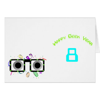 Happy Geek Year Table Tent Template Stationery Note Card