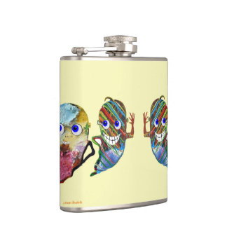 Happy Ghost Flasks