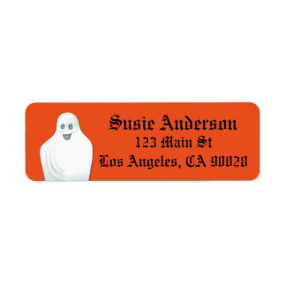 Happy Ghost Halloween Return Address Label