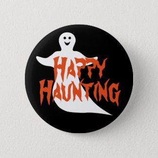 Happy Ghost Happy Haunting 6 Cm Round Badge