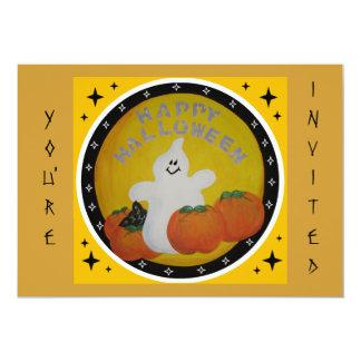 """HAPPY GHOST INVITATION 5"""" X 7"""" INVITATION CARD"""
